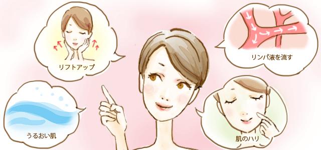 美顔器で得られる効果について